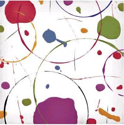 Paint Circles 12x12 Paper