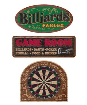 Parlor Games Outdoor Signs