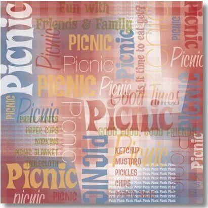 Picnic Collage 12x12 Paper
