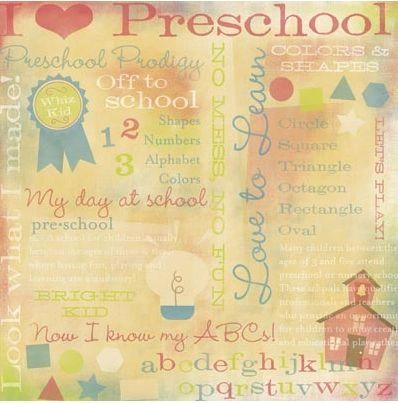 Preschool Collage 12x12 Paper