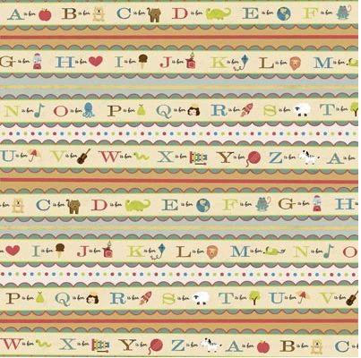 Preschool Stripe 12x12 Paper