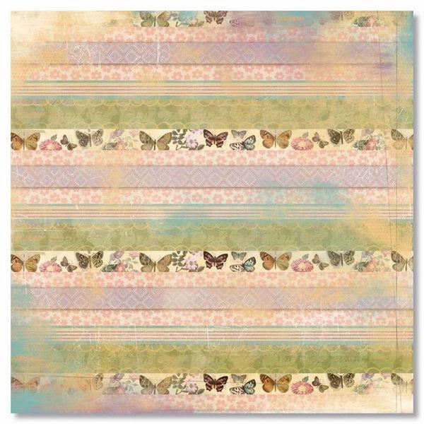 Butterfly Stripe 12x12 Paper