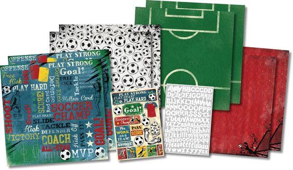 Soccer Champ Scrapbook Kit