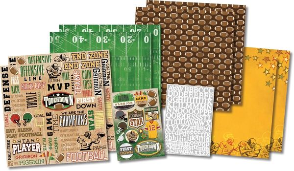 Football Star Scrapbook Kit