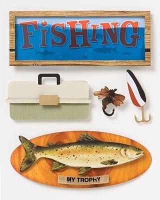 Fishing Stuff Stacked Stickers