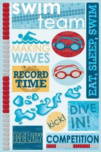 Swim Team Sticker