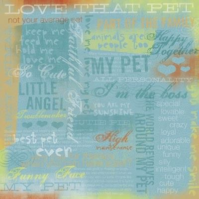 Love that Pet 12x12 Paper