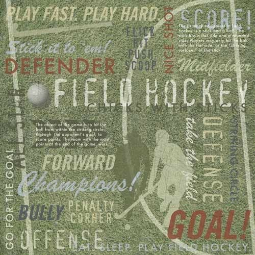 Field Hockey Collage 12x12 Paper