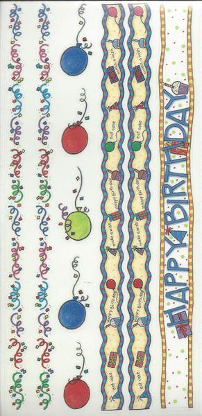 Birthday Kids Borders Sticker