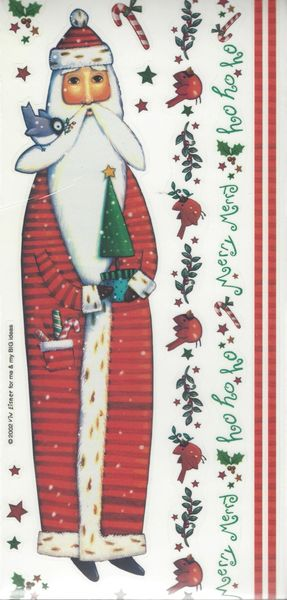 Santa Borders Sticker