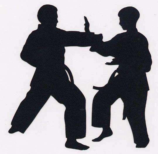 Martial Arts Stance Die-Cut