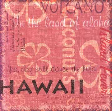 Hawaii Collage 12x12 Paper
