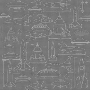 Spaceship Diagram 12x12 Paper