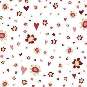 White Sweetheart Potpourri 12x12 Paper