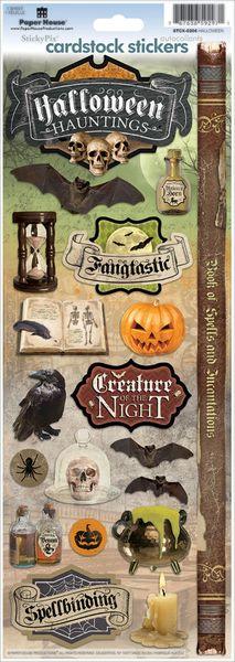 Halloween Hauntings Cardstock Stickers