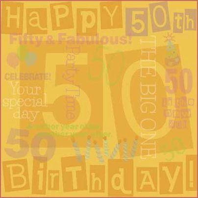 50th Birthday 12x12 Paper