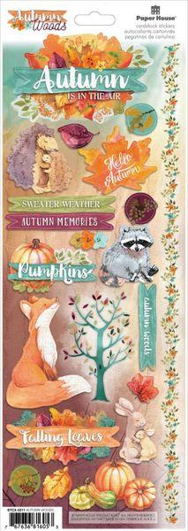 Autumn Woods Cardstock Stickers