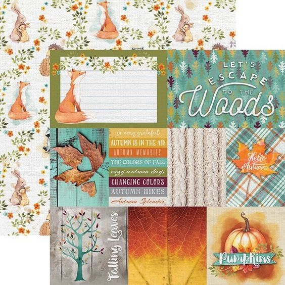 Woodland Friends Tags 12x12 Double Sided Paper