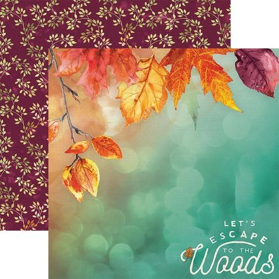 Autumn Woods 12x12 Double Sided Paper