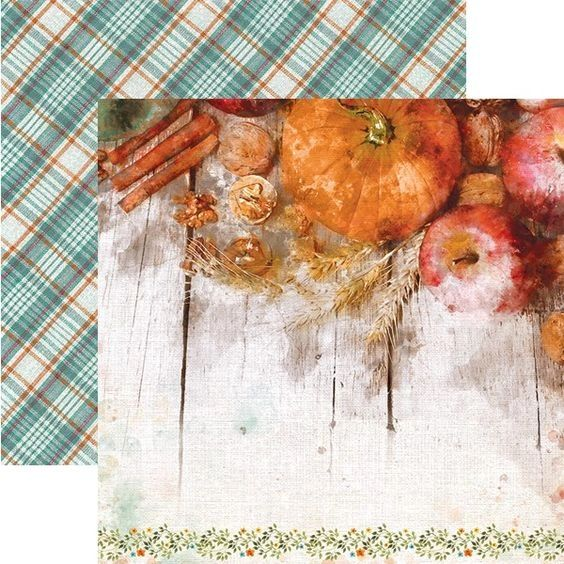 Pumpkin Spice 12x12 Double Sided Paper
