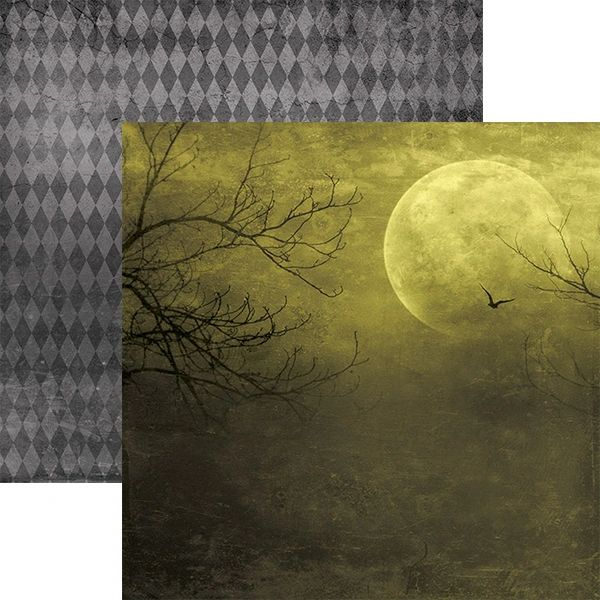 All Hallows Moon 12x12 Double Sided Paper
