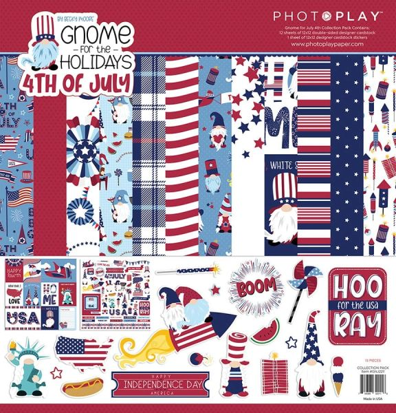 Gnome for the Holidays 4th of July 12X12 Collection Pack