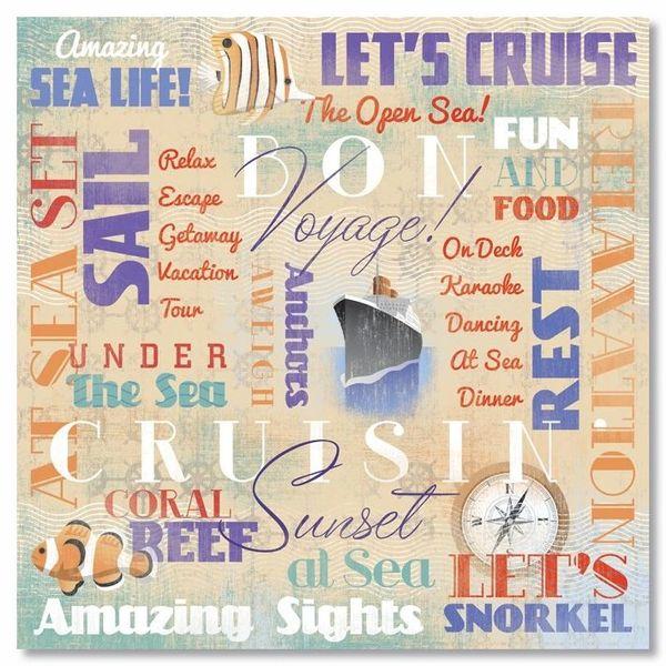 Bon Voyage Collage 12x12 Paper