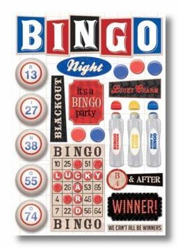 BINGO Cardstock Sticker