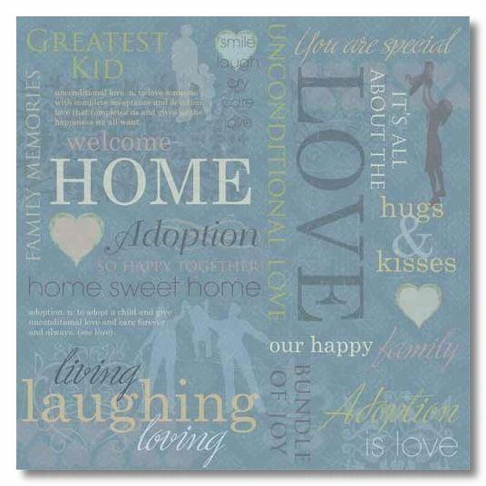 Adoption Collage 12x12 Paper