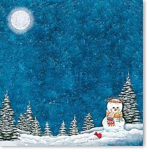 BJ's Snowman 12x12 Paper