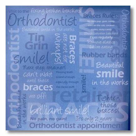 Blue Orthodontist 12x12 Paper