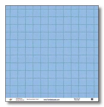 Blue/Green Stitch 12x12 Paper