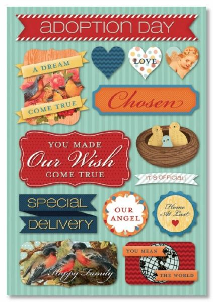 Adoption Day Cardstock Stickers