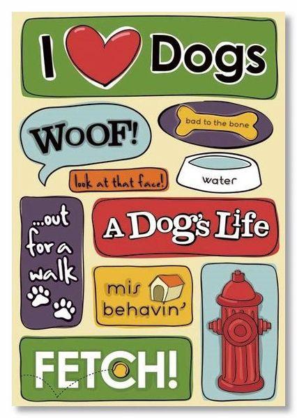 Woof Cardstock Stickers