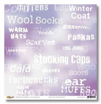 Winter Wear 12x12 Paper
