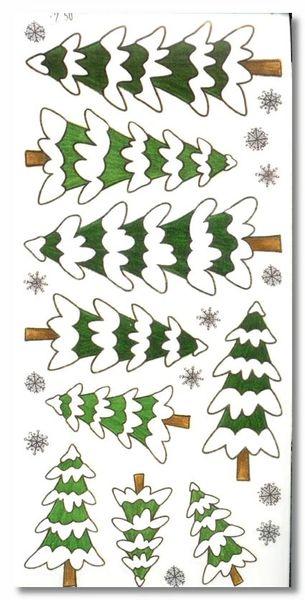 Winter Pine Trees Sticker