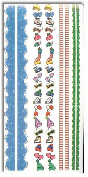Winter Kids Borders Sticker