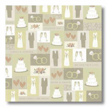 Bride & Groom 12x12 Paper