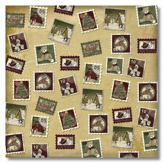 Christmas Stamps 12x12 Paper