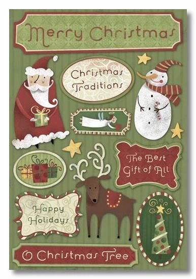 Christmas Traditions Cardstock Stickers