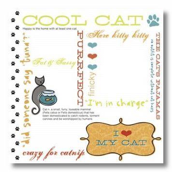 Cool Cat Rub-On