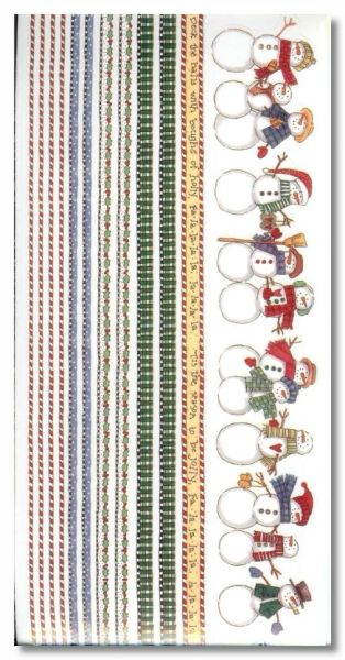Country Christmas Borders Sticker