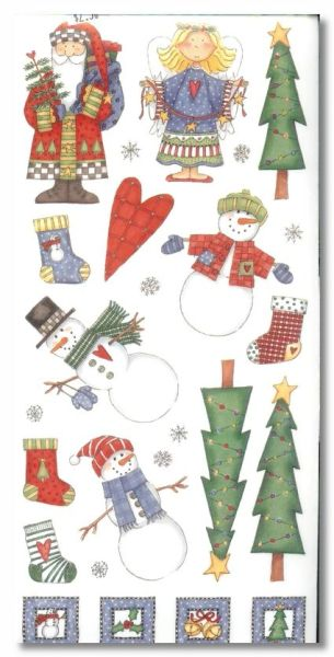Country Christmas Stickers