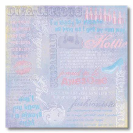Diva Collage 12x12 Paper