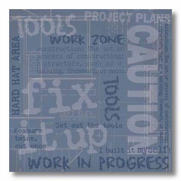 DIY Construction 12X12 Paper