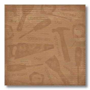 DIY Work Zone 12X12 Paper