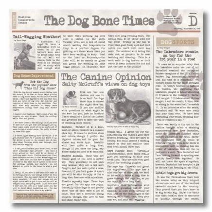 Dog Chronicle 12x12 Paper