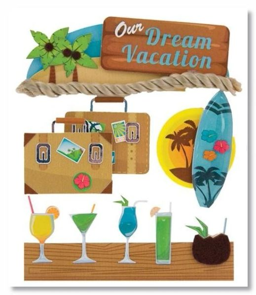 Dream Vacation Stacked Stickers