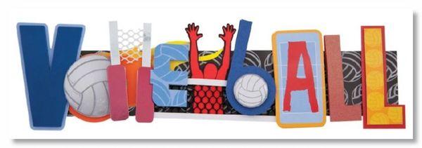 Volleyball Stacked Statement Sticker