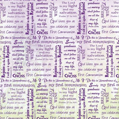 First Communion Word 12x12 Paper
